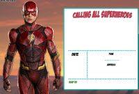 Justice League Birthday Invitation Template  Invitation Templates throughout Superman Birthday Card Template