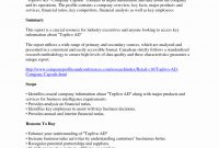 K Summary Annual Report Cover Letter Sample – Emelinespace regarding Summary Annual Report Template