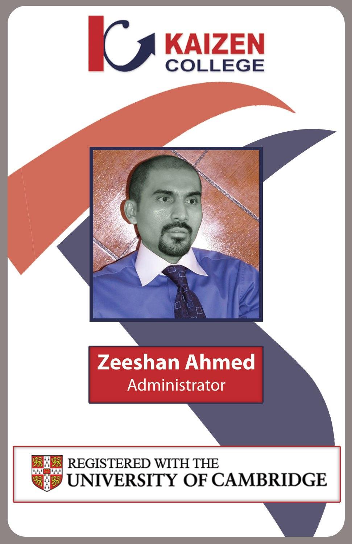 Kaizenidcardfacultyfront – Adnan Qureshi With Regard To Faculty Id Card Template