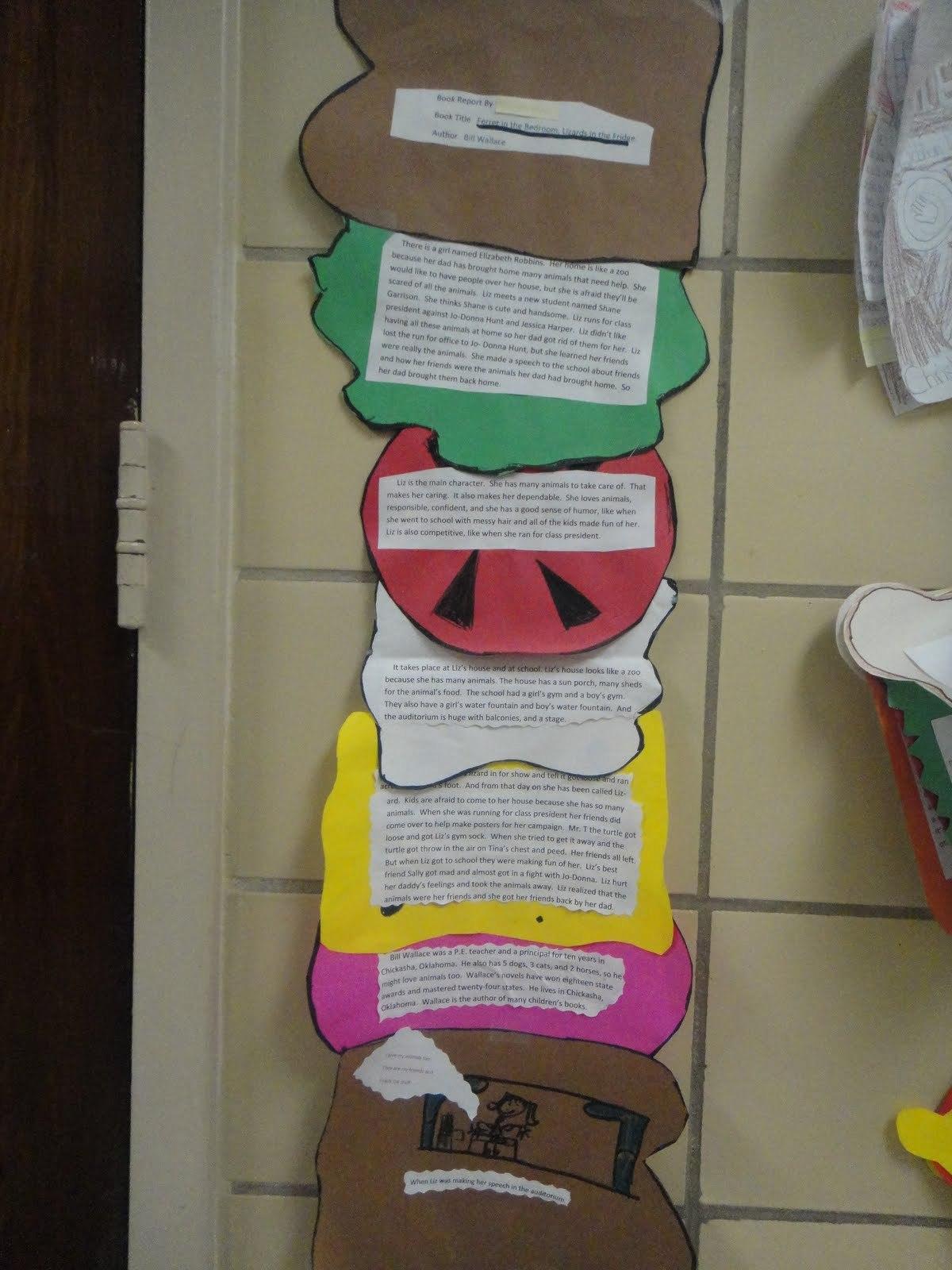 Katie's Klassroom Sandwich Book Report Th  Th Grade Throughout Sandwich Book Report Template