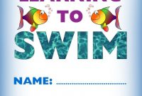 Kids Certificate For Learning To Swim  Swim  Learn To Swim Swim in Swimming Certificate Templates Free