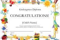 Kindergarten Graduation Certificate  Free Printable Kindergarten with 5Th Grade Graduation Certificate Template