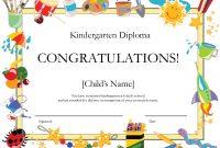 Kindergarten Graduation Certificate  Free Printable Kindergarten With 5Th Grade Graduation Certificate Template