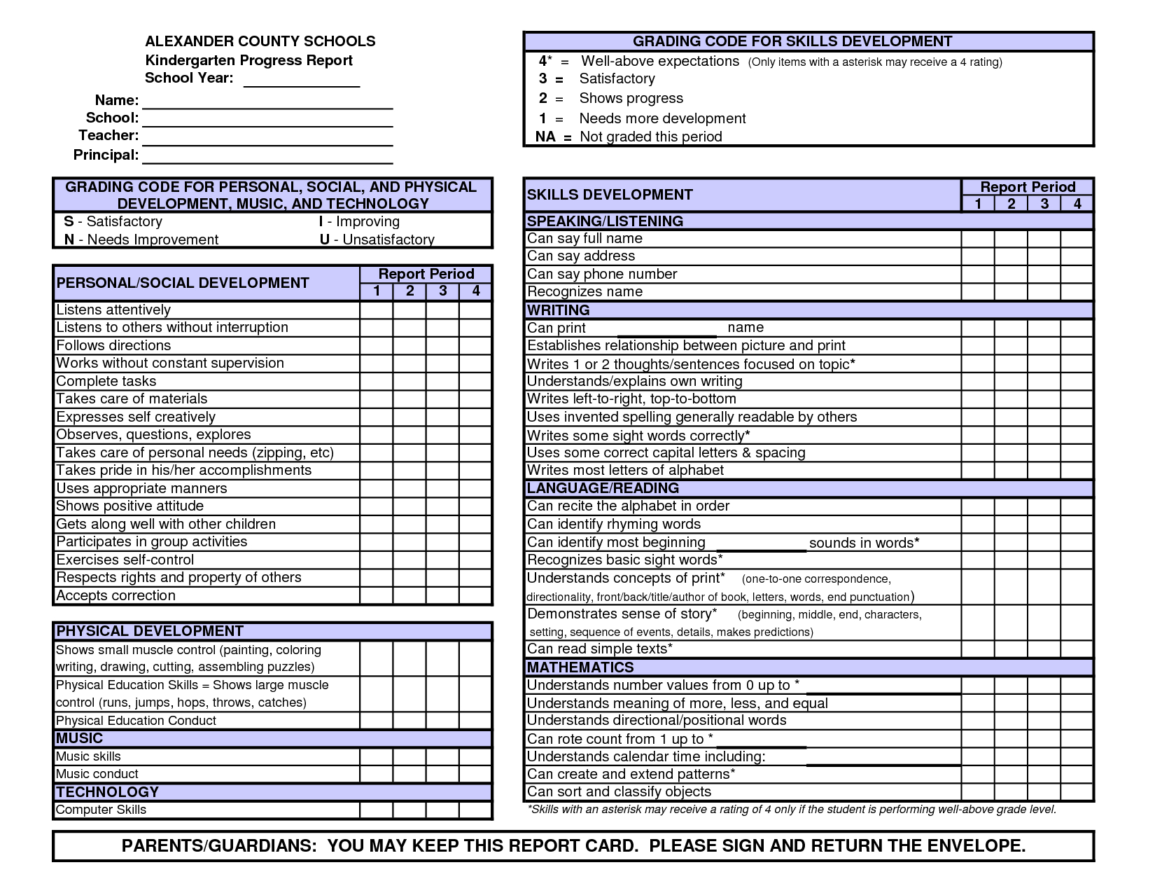 Kindergarten Report Card Template Free Preschool Conference Report In Report Card Format Template