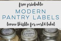 Kitchen Labels And Pantry Labels with Pantry Labels Template