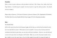 Lab Report Example  Osu Chemistry pertaining to Chemistry Lab Report Template