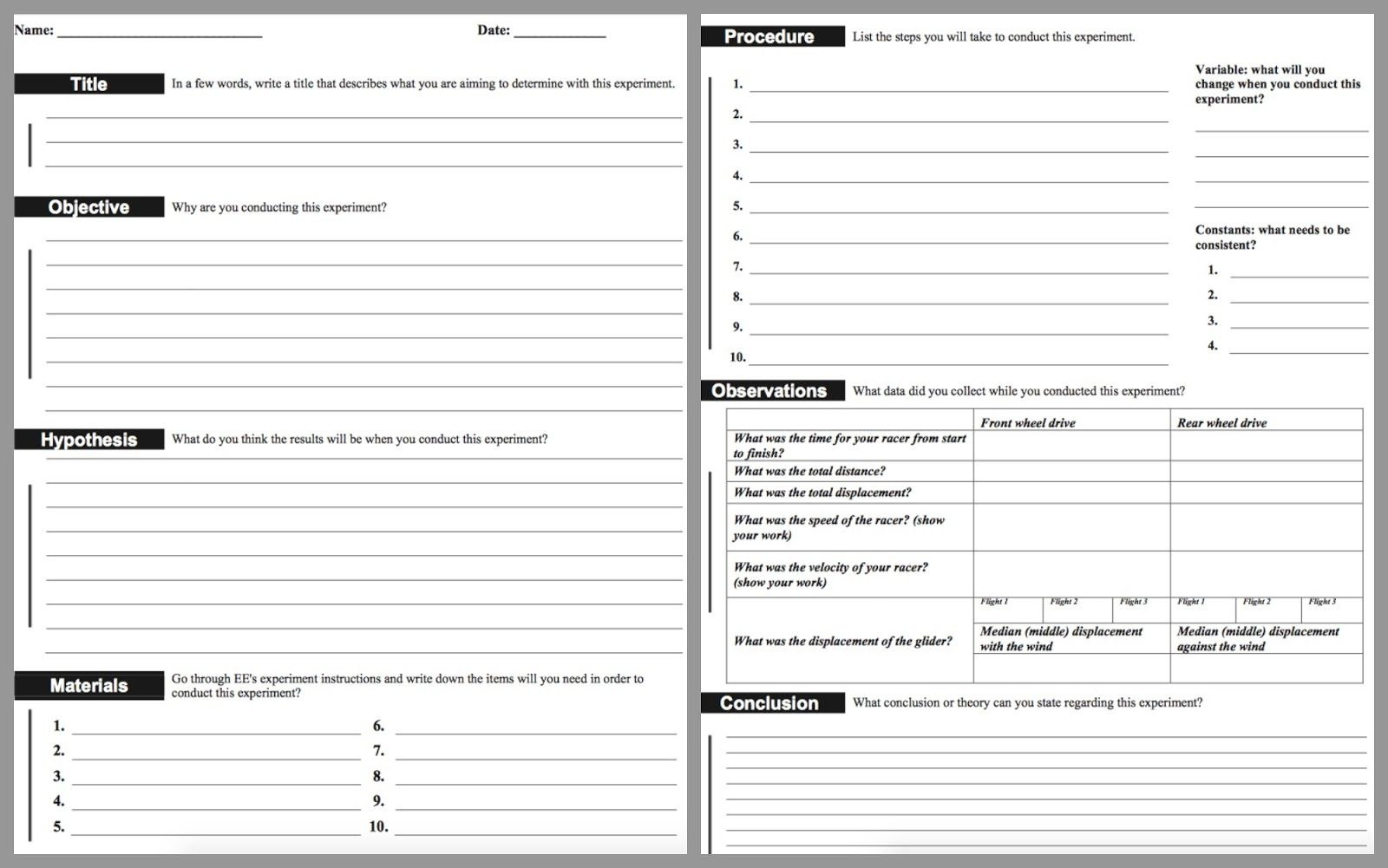 Lab Report Template Middle School  Google Search For Students Who Throughout Lab Report Template Middle School