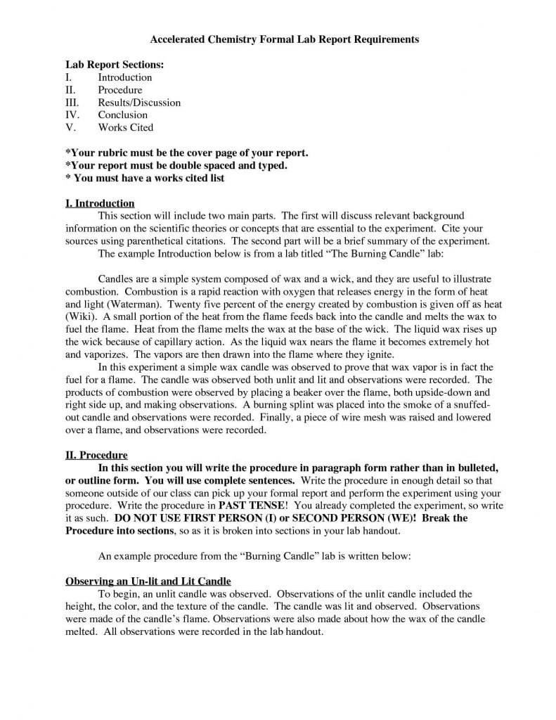 Lab Reportate Word Conclusion Example Physics Laboratory Inside Engineering Lab Report Template