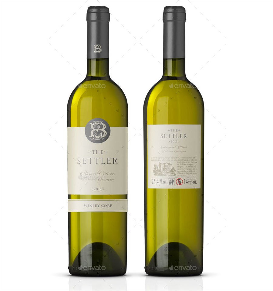 Label Design Templates  Design Trends  Premium Psd Vector Intended For Wine Bottle Label Design Template