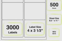 Label Printing Template  Per Sheet throughout 8 X 3 Label Template