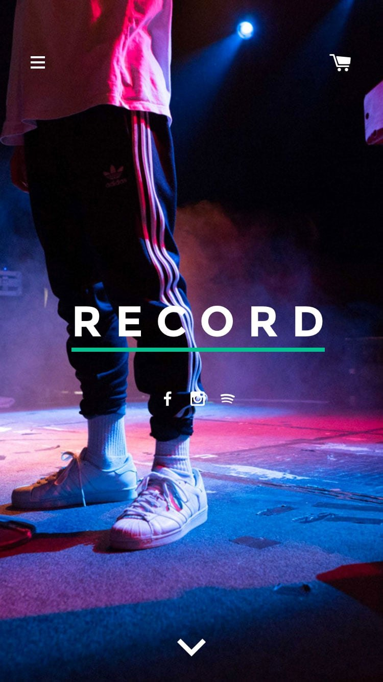 Label Theme  Record  Ecommerce Website Template Throughout Record Label Website Template Free