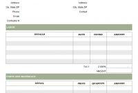 Labor Invoicing Sample in Labor Invoice Template Word