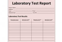 Laboratory Test Report Template with Medical Report Template Free Downloads