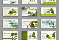 Landscape Design Studio Business Card Template Vector Landscaping with Landscaping Business Card Template