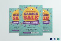 Large Garage Sale Flyer Design Template In Psd Word Publisher for
