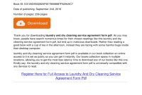 Laundry And Dry Cleaning Service Agreement Form Pdf Laundry And Dry regarding Laundry Service Agreement Template
