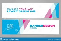 Layout Banner Template Design For Winter Sport Event  Stock with Event Banner Template