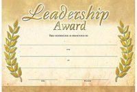 Leadership Award Gold Foilstamped Certificates  Positive Promotions pertaining to Leadership Award Certificate Template
