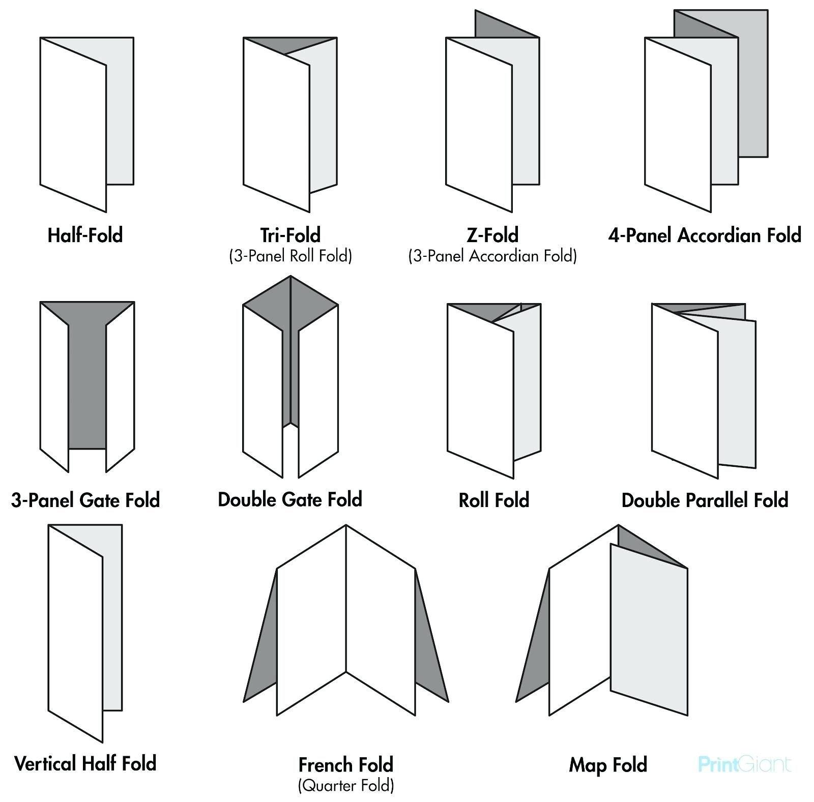 Legal Size Brochure Template Blog Types Of Paper Folds Free Regarding Brochure Folding Templates