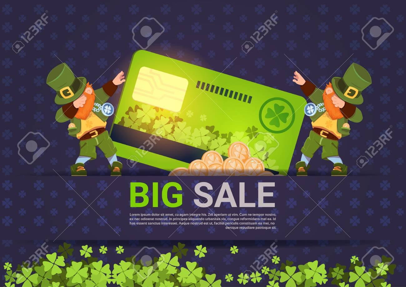 Leprechuns Hold Credit Card Sale For St Patricks Day Holiday Throughout Credit Card Templates For Sale