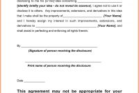 Letter Of Confidentiality And Nondisclosure Template Collection intended for Financial Confidentiality Agreement Template