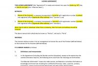 License Agreement Template throughout Trade Secret License Agreement Template