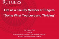 """Life As A Faculty Member At Rutgers Or """"Doing What You Love And with regard to Rutgers Powerpoint Template"""