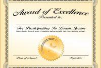 Life Saving Award Certificate Template regarding Life Saving Award Certificate Template