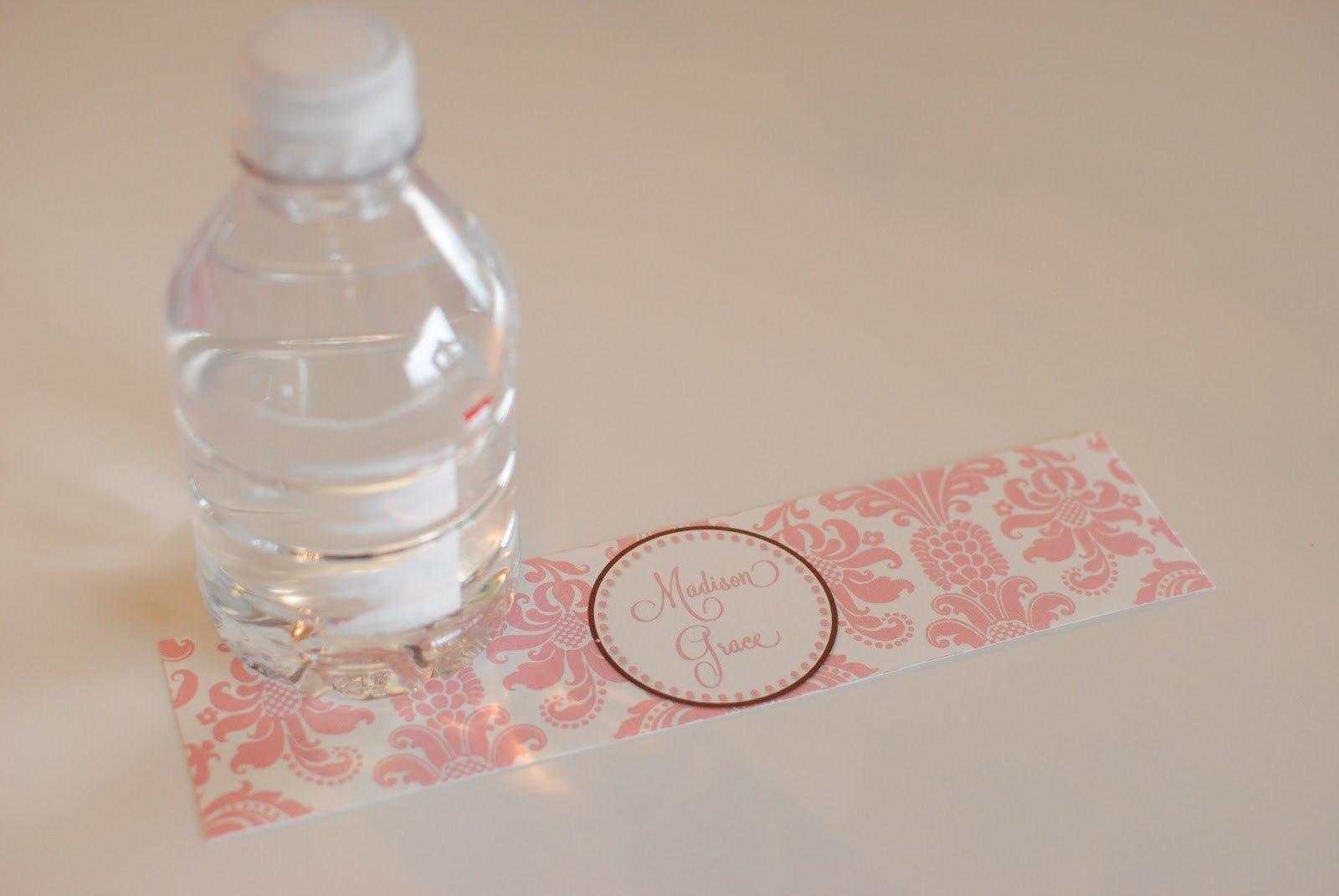Life Sweet Life Diy Printable Water Bottle Labels Inside Free Water Bottle Labels For Baby Shower Template