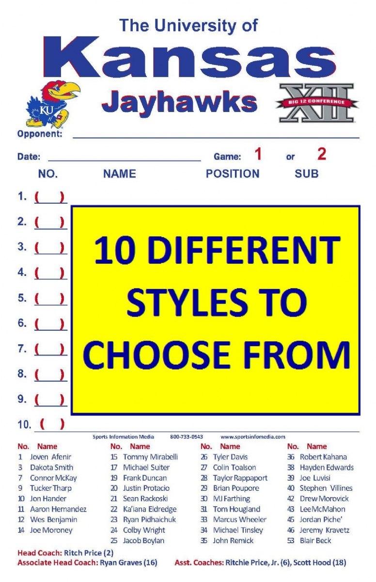 Lineup Cards Regarding Softball Lineup Card Template