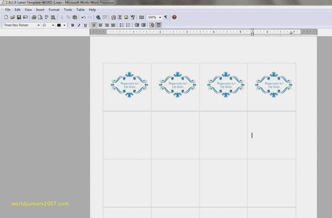 Lip Balm Label Template Illustrator Fresh Bonito Plantilla De Word Within Label Maker Template Word