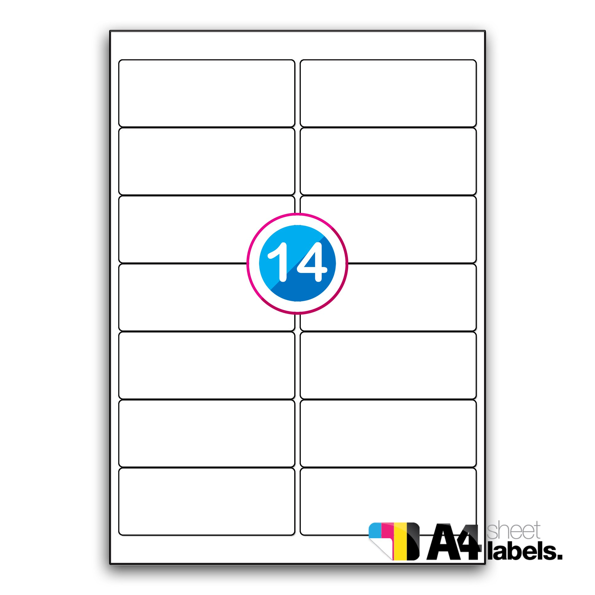 Ll  Round Cornered Labels Mm X Mm  A Sheet Labels With Regard To 99.1 Mm X 38.1 Mm Label Template