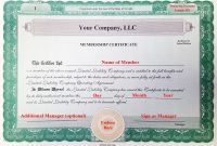 Llc Membership Certificate Template Member Staggering Ideas Pdf inside Llc Membership Certificate Template Word