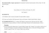 Llc Operating Agreement Template Us  Lawdepot inside Corporation Operating Agreement Template