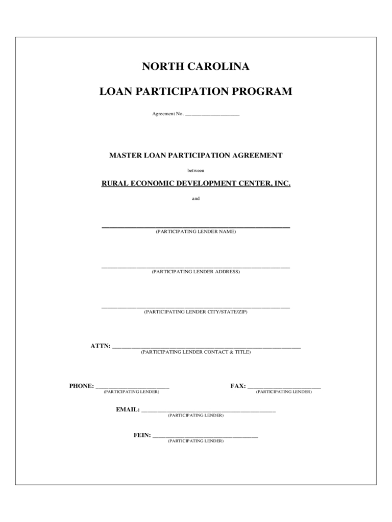 Loan Participation Agreement Form   Free Templates In Pdf Word With Regard To Program Participation Agreement Template