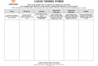 Logic Model Template Free Word Templates  Mandegar for Logic Model Template Word