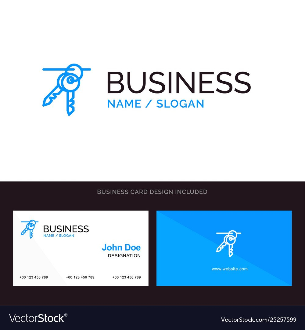 Logo And Business Card Template For Hotel Key Vector Image Within Hotel Key Card Template