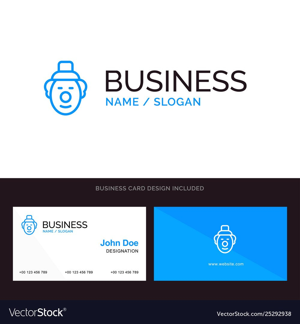 Logo And Business Card Template For Joker Clown Vector Image Intended For Joker Card Template