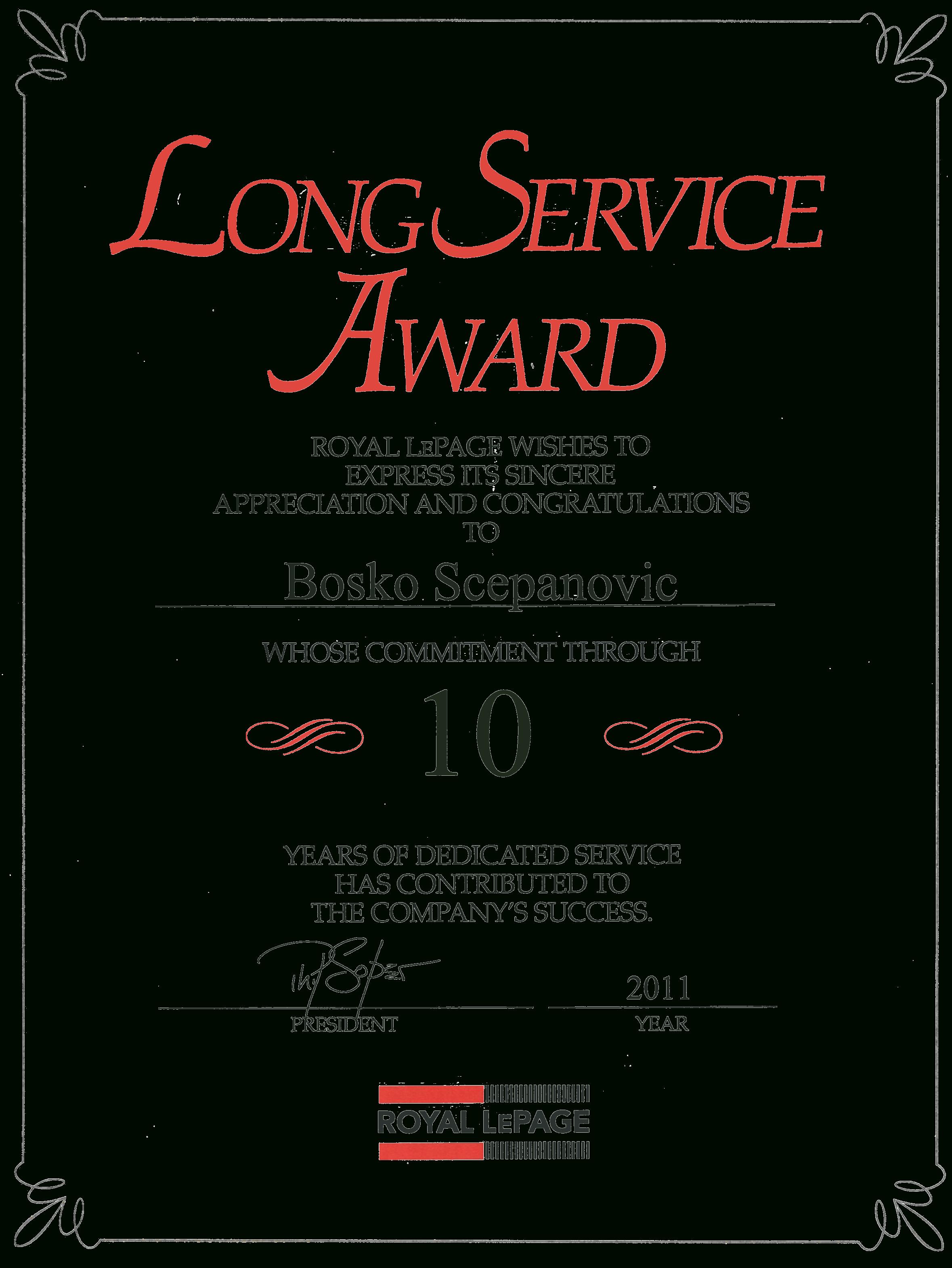 Long Service Award Certificate Template Free Forte Euforic Co Inside Leadership Award Certificate Template