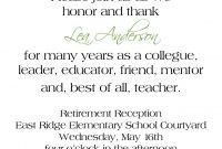 Love The Wordingretirement Reception Invitation  Via with Retirement Card Template
