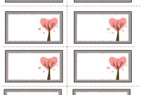 Love Tree Valentine Labels  V Day  Free Label Templates Soap regarding Butterfly Labels Templates