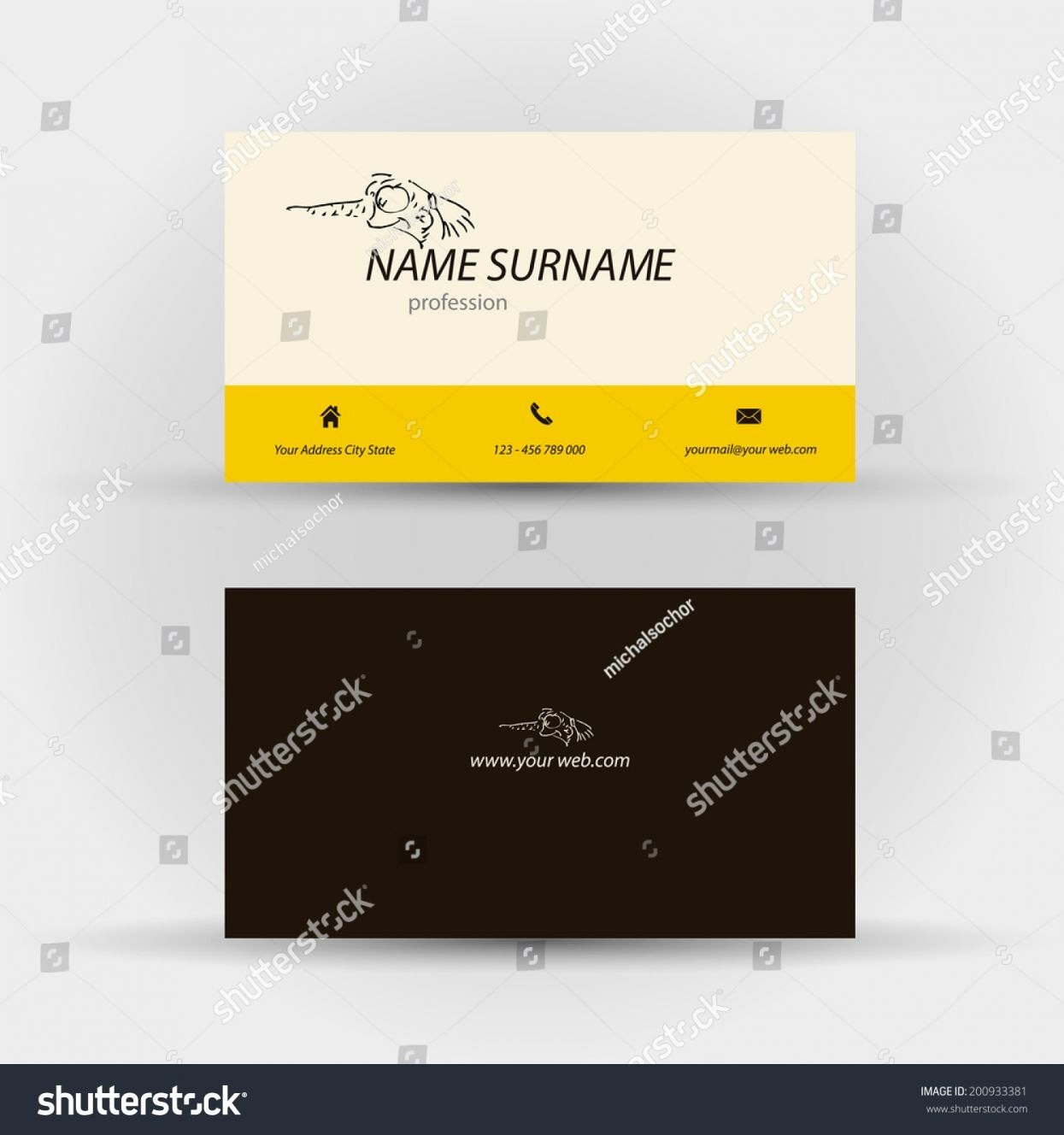 Lovely Business Card Front And Back  Hydraexecutives With Regard To Front And Back Business Card Template Word