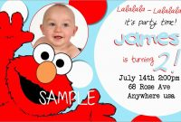 Lovely Elmo Birthday Invitations Template Free  Best Of Template intended for Elmo Birthday Card Template