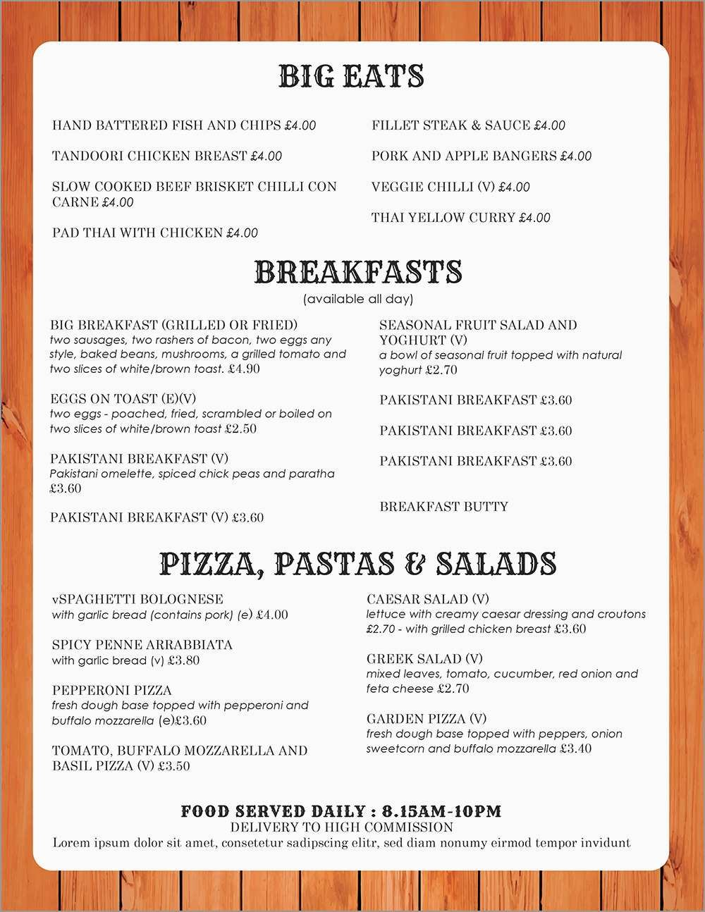 Lovely Free Catering Menu Templates For Microsoft Word  Best Of With Free Restaurant Menu Templates For Word