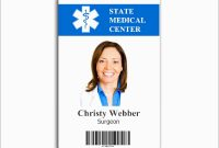 Lovely Free Employee Badge Template  Best Of Template intended for Hospital Id Card Template