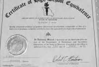 Lovely Free Fake High School Diploma Templates  Best Of Template pertaining to Ged Certificate Template Download