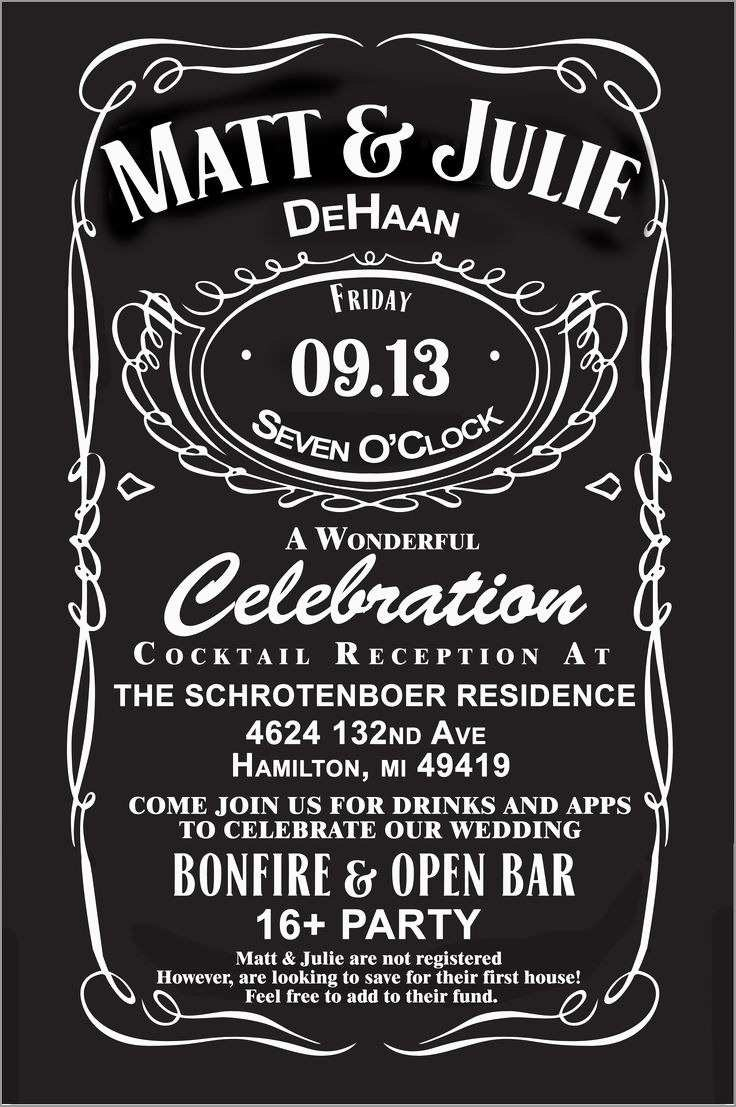 Lovely Jack Daniels Invitation Template Free  Best Of Template With Blank Jack Daniels Label Template