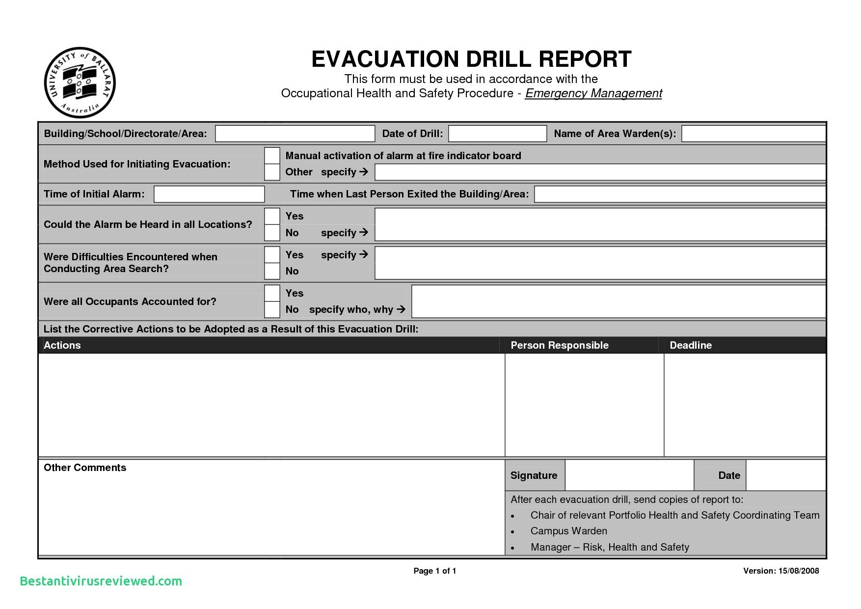 Lovely Uat Testing Template  Wwwpantrymagic In Emergency Drill Report Template