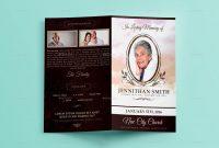 Loving Memory Funeral Program Brochure Template for Memorial Brochure Template