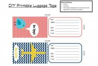 Luggage Tag Template Word Ideas Beautiful Label Blank Unique within Blank Luggage Tag Template